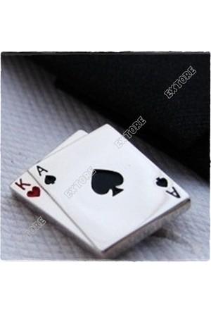 Extre Kol Düğmesi Maça As Kupa Papaz Poker Cards