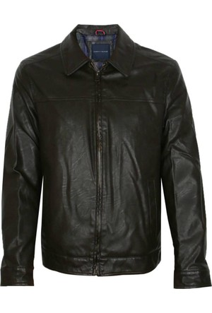 Tommy Hilfiger 154Au845 Kahverengi Erkek Deri Ceket