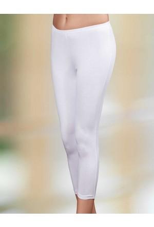 Şahinler Yanı Dikişli Tayt Beyaz MB3025