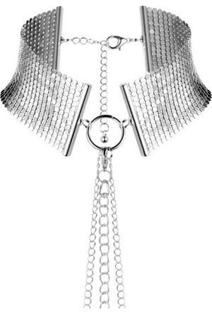 Bijoux Indiscrets Desir Metallique Metal Örgü Tasma Boyunluk Gümüş