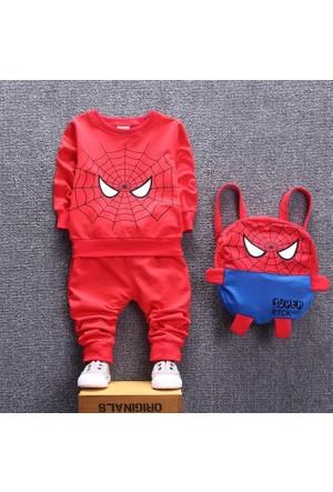 ModaKids Süper Kahraman Erkek Çocuk Çantalı Eşofman Takım 041-148-002