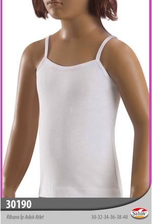 Limissi 30190 Şahin İp Askılı Atlet Kız - Beyaz
