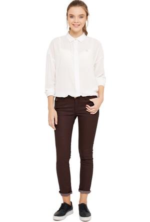 U.S. Polo Assn. Kadın Kot Pantolon Selly-Bordeaux