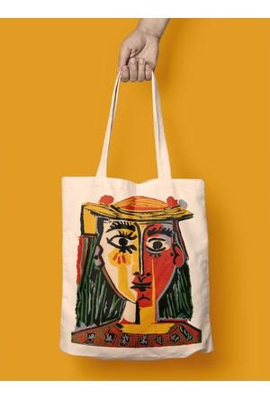 iF Dizayn Picasso Şapkalı Kız Bez Çanta