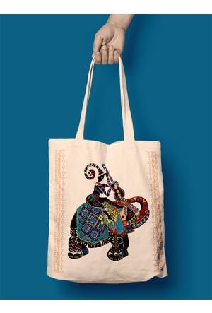 iF Dizayn Afrika Fil Tasarım Bez Çanta