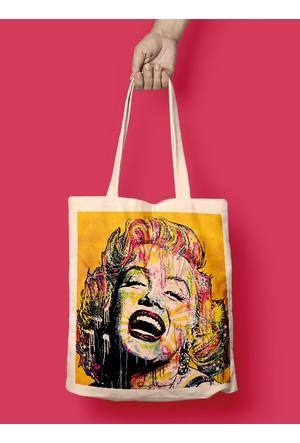 iF Dizayn Pop Art Marilyn Monroe Bez Çanta