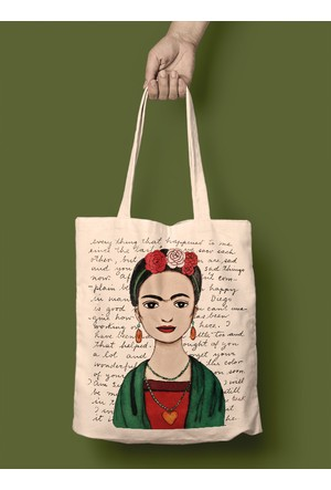 iF Dizayn Frida Kahlo Diegoya Mektuplar Bez Çanta