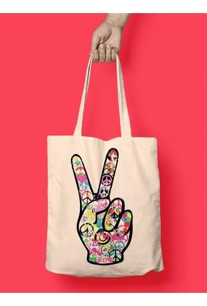 iF Dizayn Barış Zafer İşareti Bez Çanta