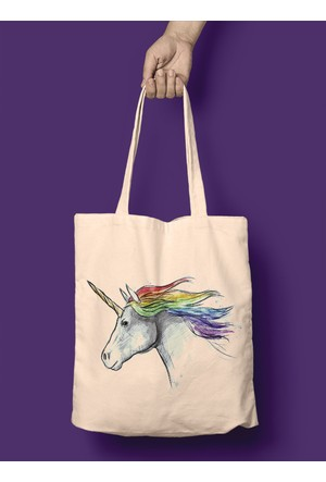 iF Dizayn Unicorn Tasarım Bez Çanta