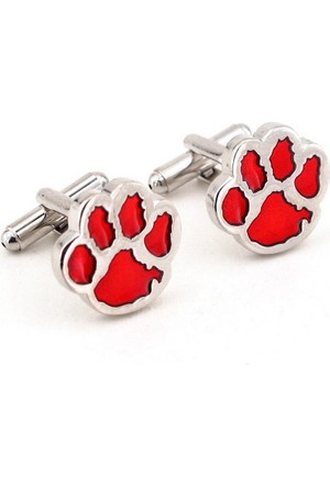 Solfera Kırmızı Köpek Patisi Kol Düğmesi Cx063