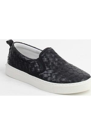 Markazen Desenli Babet Ayakkabı - Siyah 02