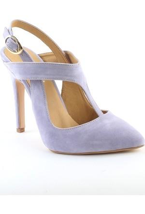 Markazen Clodia Süet Topuklu Ayakkabı - Lila