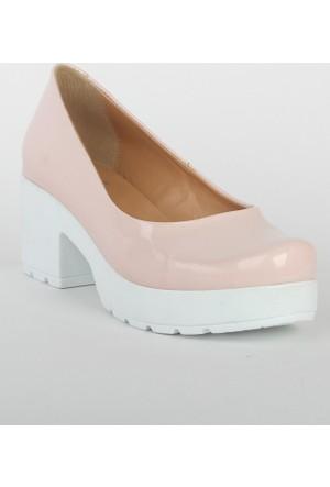 Markazen Bayan Rugan Topuklu Ayakkabı - Pembe