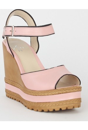 Markazen Dolgu Topuk Bayan Ayakkabı - Pembe