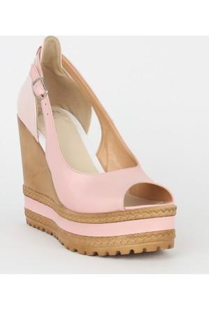Markazen Dolgu Topuk Bayan Ayakkabı - Pembe 01