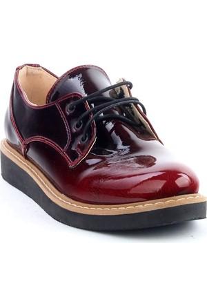 Markazen Oxford Rugan Ayakkabı - Kırmızı 01