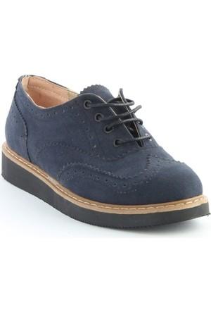 Markazen Oxford Süet Ayakkabı - Lacivert