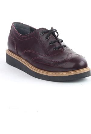 Markazen Oxford Rugan Ayakkabı - Bordo