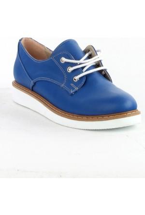 Markazen Beyaz Taban Oxford Ayakkabı - Mavi