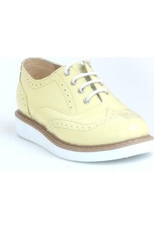 Markazen Oxford Rugan Ayakkabı Çift Yüz - Sarı