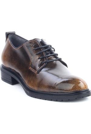 Markazen Açma Rugan Oxford Ayakkabı - Kahverengi