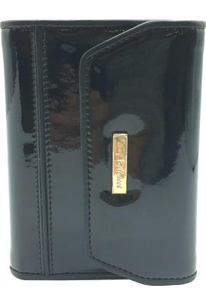 Tony Bellucci T616-993 Rugan Siyah Gerçek Deri Bayan Cüzdanı