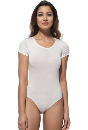Özkan Bayan Çıtçıtlı Yarım Kol Body 0601 Beyaz
