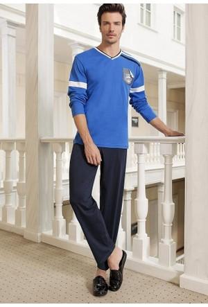 Berrak 6201 Mavili Erkek Pijama Takımı