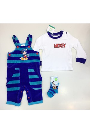 Disney Mickey Mouse Kadife Çoçuk 3'Lü Set