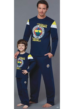 RolyPoly Lisanslı Baba Oğul Fenerbahçe Pijama Takım 8564