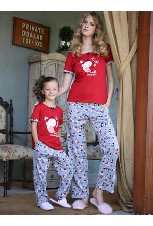 Yeni İnci Anne ve Kız Pijama Takım 856