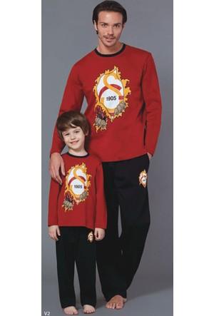RolyPoly Lisanslı Baba Oğul Galatasaray Pijama Takım 8574