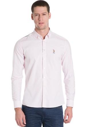 U.S. Polo Assn. Swinmen16K Erkek Gömlek Pembe