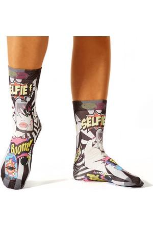 Wigglesteps Selfıe Boom Black Bayan Çorap