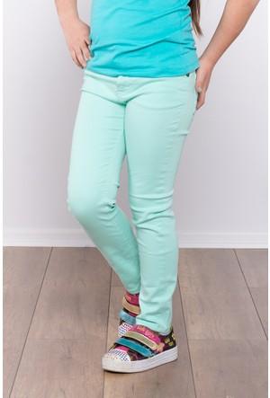 Ottomama Kız Çocuk Keten Pantolon Mint Renk