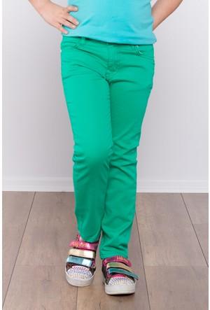 Ottomama Kız Çocuk Keten Pantolon Yeşil Renk