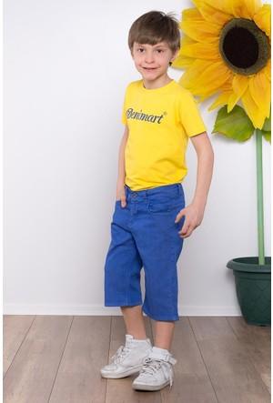 Denimart Erkek Çocuk Bermuda Şort Saks Mavi Renk