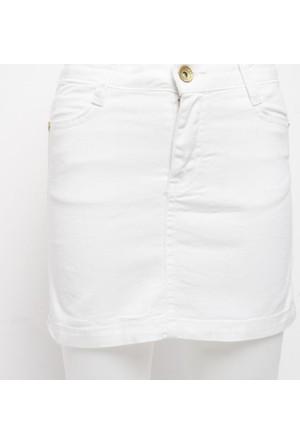 Ottomama Basic Renkli Kız Çoçuk Etek Beyaz Renk