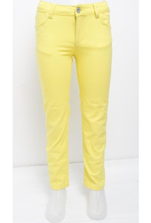 Ottomama Kız Çocuk Keten Pantolon Sarı Renk