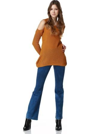 Sense 13646 Beli Lastikli İspanyolpaça Likralı Kot Pantolon