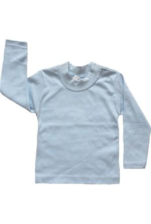 Shecco&Babba Uzun Kollu Çocuk T-Shirt Mavi
