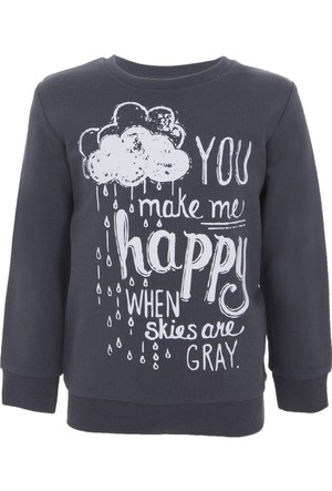 Soobe Pop Girls Sweatshirt Antrasit 12 Yaş