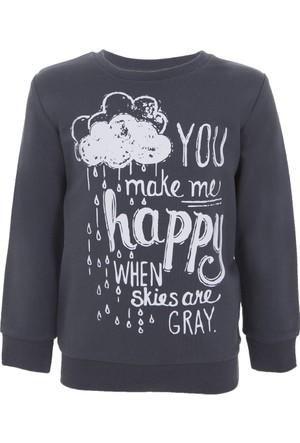 Soobe Pop Girls Sweatshirt Antrasit 12 Yaş