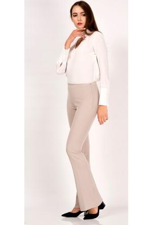İroni Likralı İspanyol Paça Taş Pantolon