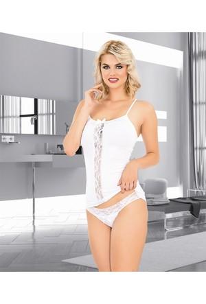 Elif Çamaşır Dantelli Fantezi Kadın Body Külot Takım 5520