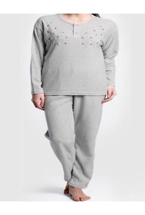Monika Büyük Beden Şardonlu Kadın Pijama Takımı 1925