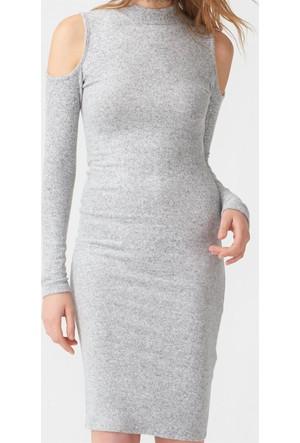 Dilvin 9646 Omuzları Açık Yumoş Elbise