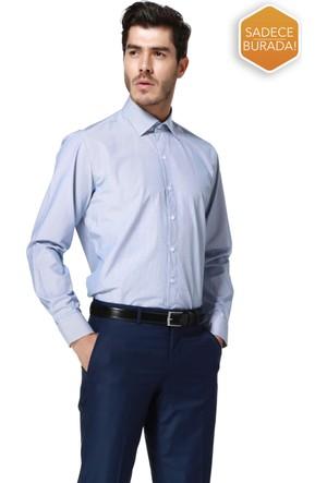 Hatemoğlu Uzun Kol Klasik Çizgili Gömlek