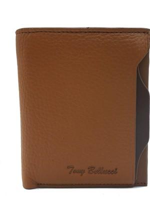 Tony Bellucci M15-958 Taba Gerçek Deri Kartlıklı Erkek Cüzdan
