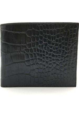 Tony Bellucci T116-942 Kroko Siyah Gerçek Deri Erkek Cüzdan